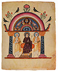Christ on throne from Etchmiadzin gospel 989.jpg
