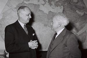 Christian Pineau - Christian Pineau meeting with David Ben-Gurion in Israel, January 1959