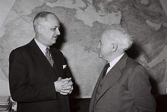 Christian Pineau - Christian Pineau meeting with David Ben-Gurion in Israel, January 1959