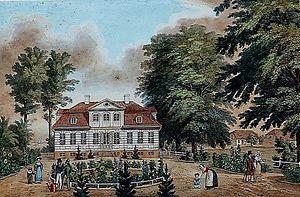 Christiansholm, Gentofte Municipality - Vhristiansholm in c. 1850