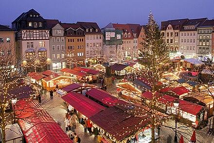 ドイツ・イェーナのクリスマスマーケット