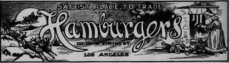 The May Department Stores Company - Christmas advertisement for Hamburger's Department Store, Los Angeles, 1905