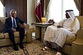 Chuck Hagel meets with Sheikh Tamim bin Hamad, Emir of Qatar, December 2013 (2).jpg