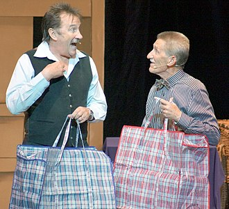 Chuckle Brothers - Paul and Barry Elliott, aka The Chuckle Brothers, on stage at the Futurist Theatre in Scarborough in 2013