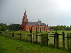 Church in Kalnciems. July, 2008 - panoramio.jpg