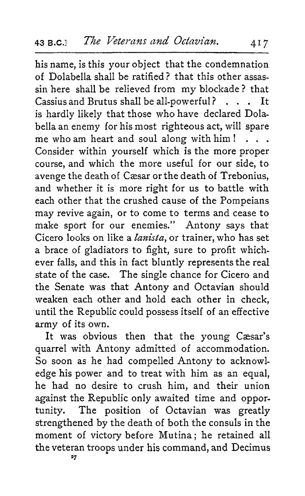 cicero caesar and the collapse of the republic essay The fall of the roman republic in this chapter, the lives and impact of caesar, octavian, antonius (antony) and even cleopatra, along with the continuing stories of men like pompey, crassus and cicero will be examined.