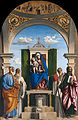 Cima da Conegliano - Enthroned Madonna with Child and SS Peter, Romualdus, Benedict and Paul - Google Art Project.jpg