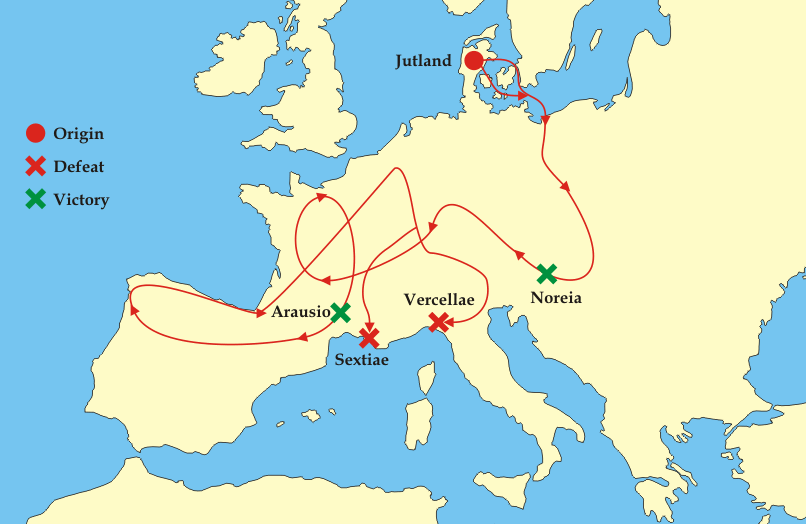 Cimbrians and Teutons