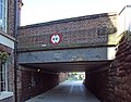 City Road bridge over Shropshire Union Canal towpath at Chester - DSC08249.JPG