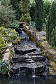 City of London Cemetery, Newham, London England - pond waterfall.jpg