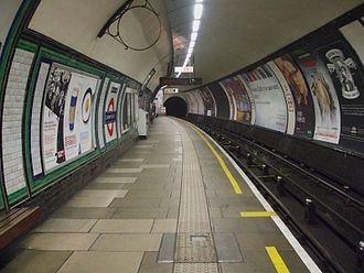 Clapham South tube station - Image: Clapham South stn northbound look south