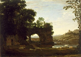 Landscape with a Rock Arch and River
