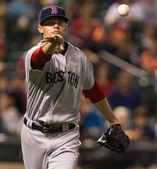 Clay Buchholz jako zawodnik Boston Red Sox.
