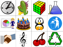 Examples of computer clip art.