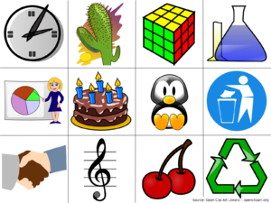 Clip art - Examples of computer clip art. (Source: Open Clip Art Library)