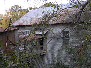 English: Rear of the Clover Hill Mill in Maryv...
