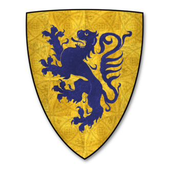Henry de Percy, 3rd Baron Percy - Coat of Arms of Percy, Barons Percy of Alnwick (Or, a lion rampant Azure)
