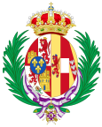 Coat of Arms of Maria Christina of Austria, Queen Consort of Spain.svg