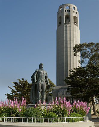 Coit Memorial Tower, San Francisco Coit Tower and Columbus Statue.jpg