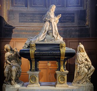 Jean-Baptiste Colbert - The tomb of Colbert, by Antoine Coysevox and Jean-Baptiste Tuby, 1685, in Église Saint-Eustache, Paris