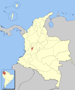 Location of Department of Quindío