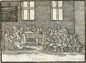 John Amos Comenius - Latin class from Orbis Pictus