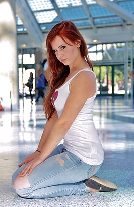 Cosplay Mary Jane Watson tijdens Comikaze Expo 2015.