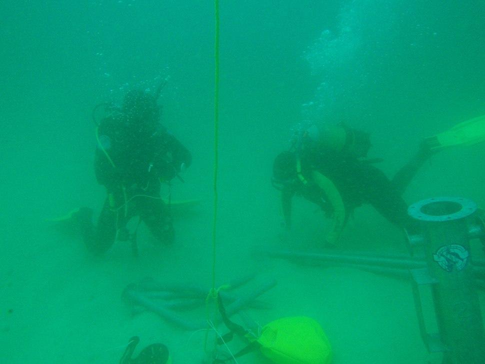 Commercial diver training at Kalk Bay PB192738