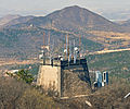 Communications antennae near the Great Wall of China at Badaling.jpg