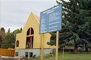 Concordia Lutheran Seminary - The seminary under construction in September 1990