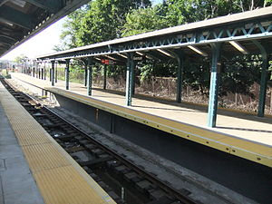 Ninth Avenue (BMT West End Line) - Image: Coney Island Bound Platform at 9th Avenue