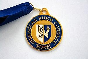 An Coimisiún Le Rincí Gaelacha - A medal awarded to qualifiers for Oireachtas Rince na Cruinne at the Connacht Championships
