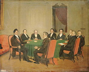 Second cabinet of Louis Mathieu Molé - The Council of Ministers presided over by Louis-Philippe on 3 August 1838, by Henri Scheffer