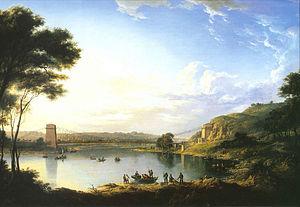 Union Bridge (Tweed) - 1820 painting of the bridge by Alexander Nasmyth