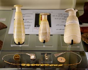 Tarkhan (Egypt) - Contents of tomb 99. 1st century CE. From tomb 99 at Tarkhan (Kafr Ammar), Egypt. The Petrie Museum of Egyptian Archaeology, London