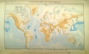 John Francon Williams - Contour Map Of The World by J. Francon Williams