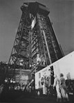 Cooper Departs Transfer Van for Mercury-Atlas 9 (S-63-6247).jpg