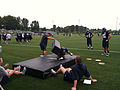 Cooper Helfet and Zach Miller at Seahawks training camp 2012.jpg