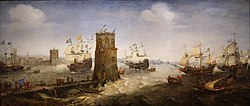 Cornelis Claesz van Wieringen : The capture of Damietta