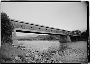 Cornish–Windsor Covered Bridge - Image: Cornish Windsor Covered Bridge HAER NH 8 104661pu