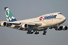 Boeing 747-300 F-GSEX (Старая Ливрея) .