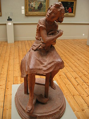 Cosette (given name) - Sculpture of Cosette with her doll by Marthe La-Fizeliere-Ritti