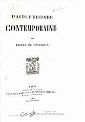 Français: Pages d'histoire contemporaine