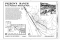 Cover Sheet and Map - Alexandre Pigeon Ranch, New Mexico State Highway 50, 1.1 miles south of intersection with Interstate 25, Glorieta, Santa Fe County, NM HABS NM-198 (sheet 1 of 4).png