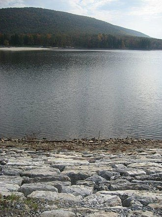 Cowans Gap State Park - View of the lake from the dam.
