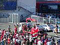 Crashed Ferrari taken away at the 2003 Hungarian Grand Prix.jpg