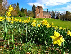 House of Burnett - Crathes Castle in springtime