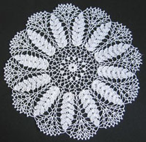 Doily - Representation of ears of ripe wheat is especially appropriate for a table linen