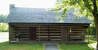 Rutherford, Tennessee - Davy Crockett's cabin located in Rutherford