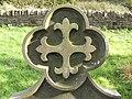 Cross on a gravestone - geograph.org.uk - 585246.jpg